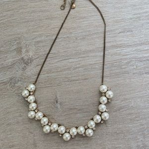 Pearl and crystal j crew necklace
